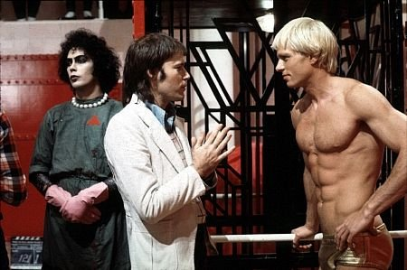 On the right, Rocky from Rocky Horror Picture Show