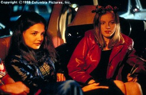 "Sarah Polley (on the right) from the movie ""Go"""