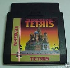 The illegal Tengen version of Tetris for the NES.