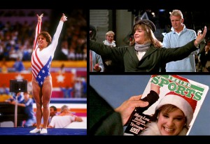 "Mary Lou Retton, posing like on Hank's poster, and also in ""Scrooged"""