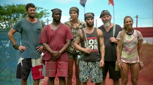 """My Word is My Bond"" -  Mike Holloway, Will Sims II, Sierra Dawn Thomas, Rodney Lavoie Jr., Dan Foley and Carolyn Rivera during the thirteenth episode of SURVIVOR on the 30th season, Wednesday, May 13 (8:00-9:00 PM, ET/PT) on the CBS Television Network. Photo: Screen Grab/CBS ©2015 CBS Broadcasting, Inc. All Rights Reserved."
